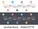 timeline infographics on white... | Shutterstock .eps vector #508625770
