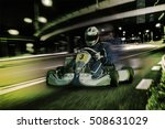 karting   driver in helmet on... | Shutterstock . vector #508631029