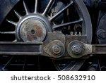 steam locomotive wheels and... | Shutterstock . vector #508632910