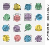 modern vector line icons with... | Shutterstock .eps vector #508635070
