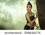 asian women in thai dress... | Shutterstock . vector #508636174
