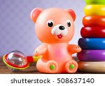 colorful children toys on... | Shutterstock . vector #508637140