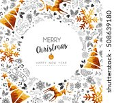 merry christmas and happy new... | Shutterstock .eps vector #508639180