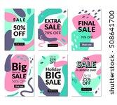 flat design sale website... | Shutterstock .eps vector #508641700