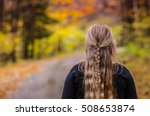 young girl with beautiful hair... | Shutterstock . vector #508653874