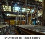 abandoned railroad workshop ...