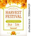 harvest festival flyer. autumn... | Shutterstock .eps vector #508664419
