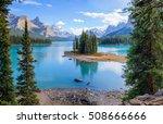 spirit island at the maligne... | Shutterstock . vector #508666666