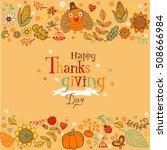 thanksgiving poster or greeting ...   Shutterstock .eps vector #508666984