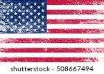 grunge usa flag. | Shutterstock .eps vector #508667494