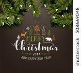 christmas illustration | Shutterstock .eps vector #508669048