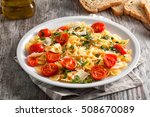 pasta with fresh tomatoes and... | Shutterstock . vector #508670089
