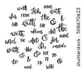 hand lettered ampersands and...   Shutterstock .eps vector #508670623