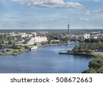 panorama of vyborg from the... | Shutterstock . vector #508672663