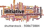 Initiative Word Cloud Concept....