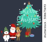 merry christmas santa claus... | Shutterstock .eps vector #508675693