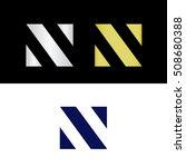 geometric capital letter n    Shutterstock .eps vector #508680388