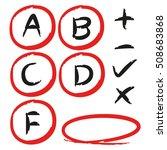 grade results | Shutterstock .eps vector #508683868