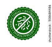 green antibacterial icon  badge ...   Shutterstock .eps vector #508684486