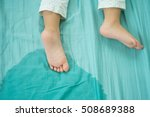 kid's feet and pee in a... | Shutterstock . vector #508689388
