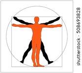 leonardo da vinci vitruvian man ...   Shutterstock .eps vector #508693828