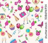 holiday background  balls ... | Shutterstock .eps vector #508696954