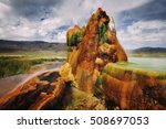fly gyser nevada | Shutterstock . vector #508697053