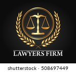 luxury lawyer firm and lawyer... | Shutterstock .eps vector #508697449