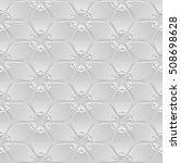 3d seamless geometric pattern | Shutterstock . vector #508698628