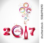 new year 2017 in white... | Shutterstock .eps vector #508699690