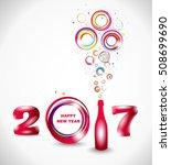 new year 2017 in white...   Shutterstock .eps vector #508699690