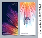 modern banners design. 3d mesh... | Shutterstock .eps vector #508703164
