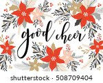 christmas greeting card with... | Shutterstock .eps vector #508709404