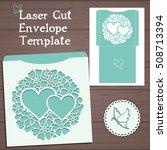 lasercut vector wedding... | Shutterstock .eps vector #508713394