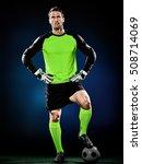 goalkeeper soccer man isolated | Shutterstock . vector #508714069
