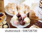 cake pops on cakestand  tarts... | Shutterstock . vector #508728730