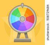 wheel of fortune on bright...   Shutterstock .eps vector #508729684
