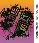 banner music poster with jazz... | Shutterstock .eps vector #508729708