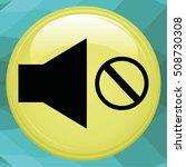 sound off icon. mute icon.