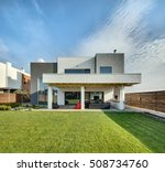 beautiful country house in a... | Shutterstock . vector #508734760