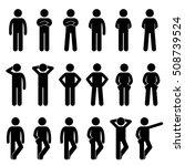 various basic standing human... | Shutterstock .eps vector #508739524