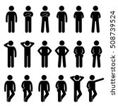 various basic standing human...