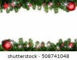 christmas background 3d... | Shutterstock . vector #508741048