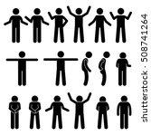 various body gestures hand... | Shutterstock . vector #508741264