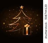 merry christmas celebration... | Shutterstock .eps vector #508744120