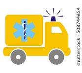 ambulance  pickup  vector icon   Shutterstock .eps vector #508744624