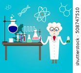 scientist in the chemistry lab... | Shutterstock .eps vector #508747510