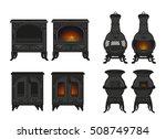 vector set of vintage  old ... | Shutterstock .eps vector #508749784