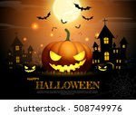 halloween pumpkin fullmoon... | Shutterstock .eps vector #508749976