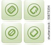 olivine square 2d icons set ... | Shutterstock .eps vector #50875354